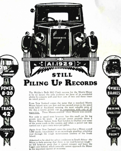 19290704 Advert - Minor Still Piling Up Records Bulawayo Chronical, Southern Rhodesia