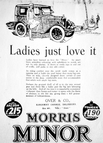 19290810 Advert Morris Minor The Ladies Love it - Bulawayo Chronical - Overt & Co Salisbury Southern Rhodesia