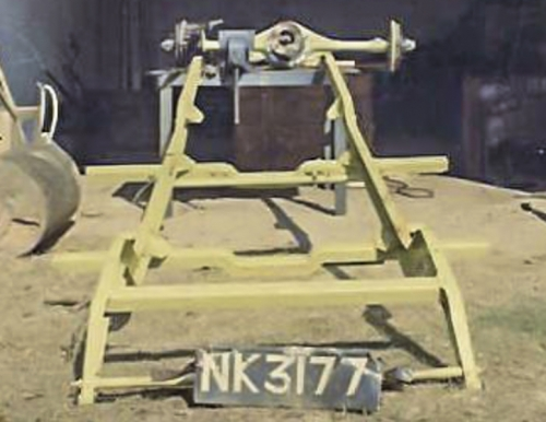 19701001 NK3177 After Sand Blasting Chassis (M10228) Zinc Chromate Undercoat. (The front cross member was replaced) Kitwe Zambia
