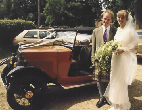 19920718 Morris Minor Reg DS9936 - completed for Rob & Ailsa's Wedding Winchfield Hants England