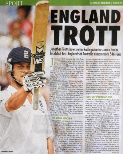 20090823 Jonathan Trott son of Ian Donna & grandson of Mrs Lang 10th owner - Mumbai Mirror India