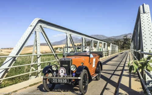 20191109.10 Botrivier Baily Bridge CHC Houw Hoek Rally CP RSA - 1929 Morris Minor PH3_9728